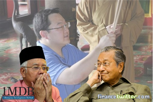 1MDB Scandal - Najib Razak and Jho Low Praying - Mahathir Smiling