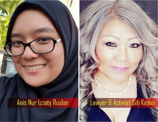 Anis Nur Izzaty Ruslan and Lawyer Activist Siti Kasim