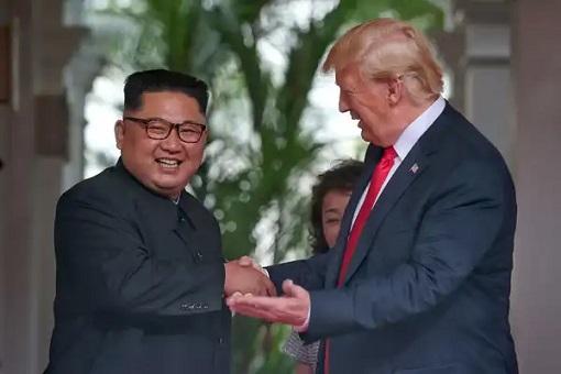 Donald Trump Meets Kim Jong-Un - Handshake 3