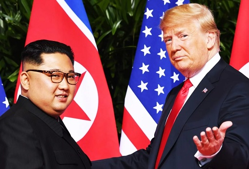 Donald Trump Meets Kim Jong-Un - Smiles