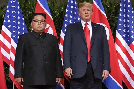 Donald Trump Meets Kim Jong-Un - Standing