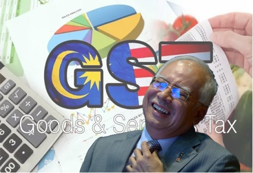 GST Goods and Services Tax - Najib Laughing