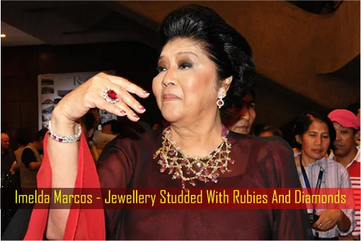 Imelda Marcos - Jewellery Studded With Rubies And Diamonds