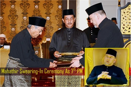 Mahathir Swearing-In Ceremony As 7th PM - Agong King Body Language