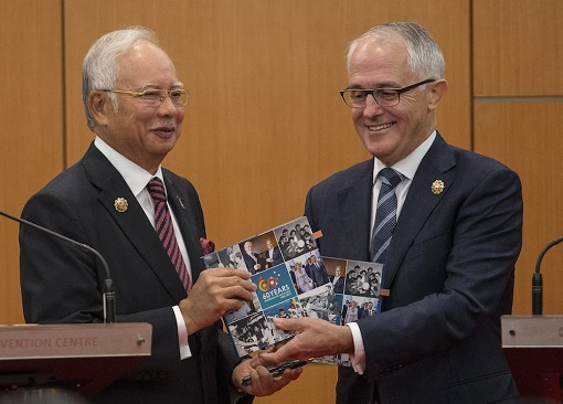 Malaysia Najib Razak and Australia Malcolm Turnbull
