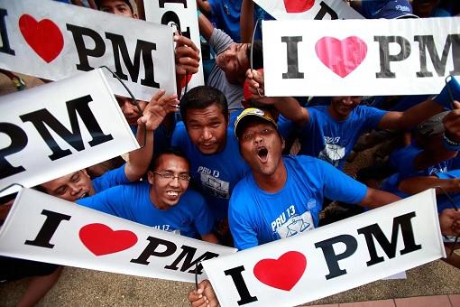 Najib Razak Supporters - I Love PM Banners