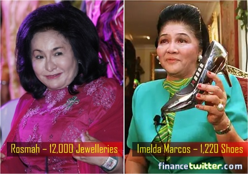 Rosmah Mansor 12000 Jewelleries VS Imelda Marcos 1220 Shoes