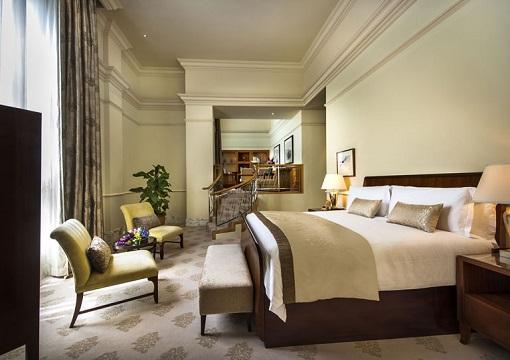 Singapore The Fullerton Hotel - Presidential Suite - Bedroom