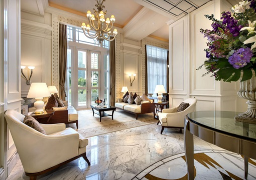 Singapore The Fullerton Hotel - Presidential Suite - Living Room