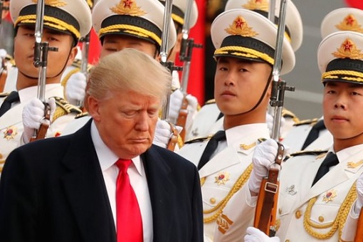 Trump Trade War With China - Chinese Guards of Honour