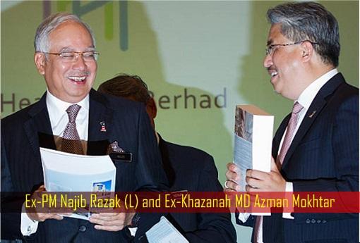 Ex-PM Najib Razak and Ex-Khazanah MD Azman Mokhtar