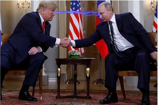 Helsinki Summit - Donald Trump Meets Vladimir Putin - Eye Contact Electrified