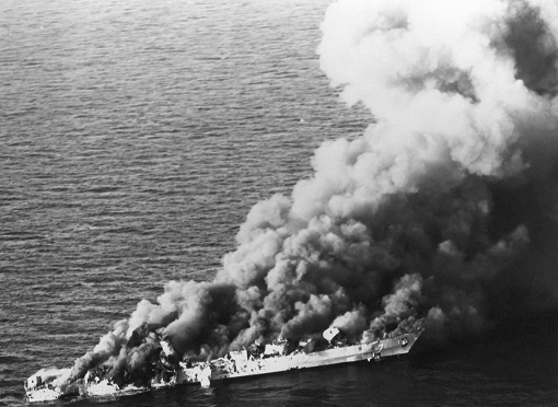 Iran Frigate Sank By US Navy - 1988