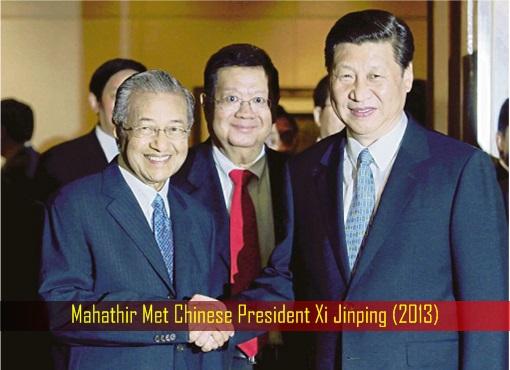 Mahathir Met Chinese President Xi Jinping - 2013