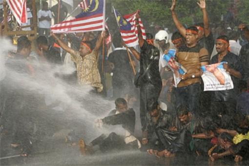 Malaysia Ethnic-Indian Hindraf Uprising - Demonstration