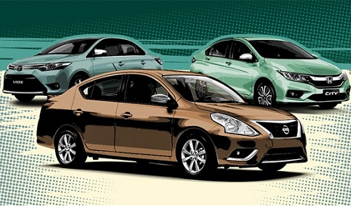 Toyota Vios vs Honda City vs Nissan Almera