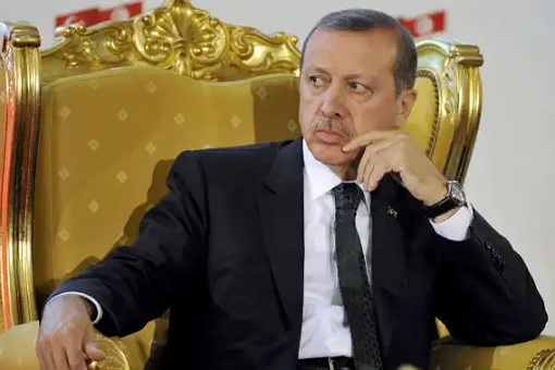 Turkey Dictator President Erdogan - Golden Chair