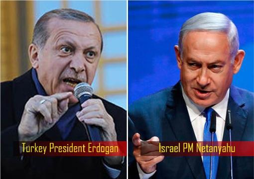 Turkey President Erdogan vs Israel Prime Minister Netanyahu