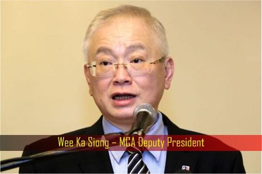 Wee Ka Siong – MCA Deputy President