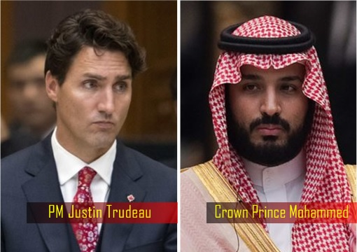 Canadian Prime Minister Justin Trudeau and Saudi Arabia Crown Prince Mohammed bin Salman