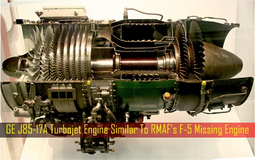 GE J85-17A Turbojet Engine Similar To RMAF's F-5 Missing Engine