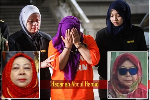 Hasanah Abdul Hamid – MEIO Spy Director General - Covered Face Being Charged