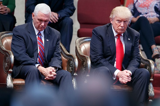 President Donald Trump and Vice President Mike Pence - Devout Christian