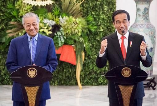 Prime Minister Mahathir Mohamad and President Jokowi