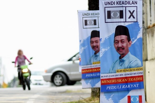 Sungai Kandis By-Election - PKR Banner Zawawi Candidate