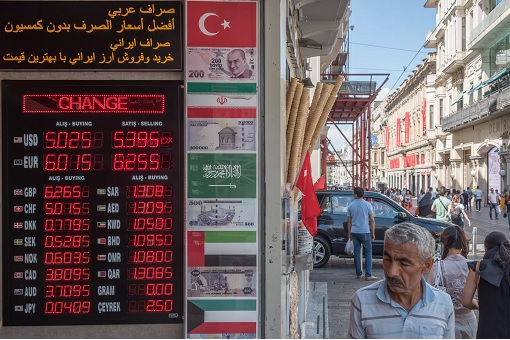 Turkey Financial Crisis - Currency Exchange Rate