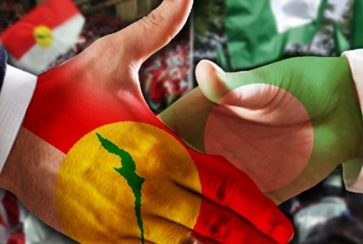 UMNO and PAS - Partnership Handshake