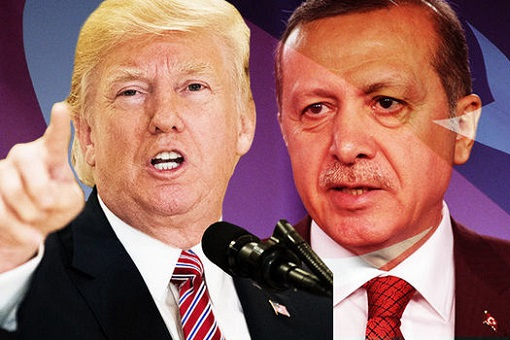 US President Donald Trump vs Turkish President Erdogan