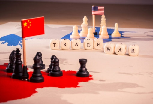 China-United States Trade War - Chess Pieces