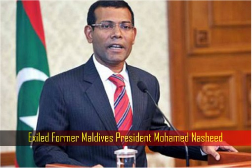 Exiled Former Maldives President Mohamed Nasheed