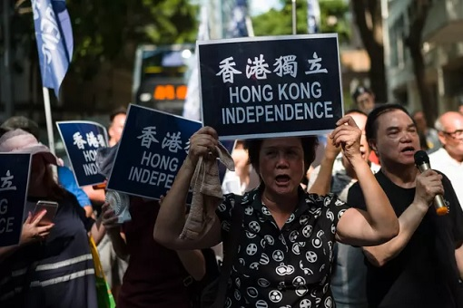 Hong Kong Independence Demonstrators