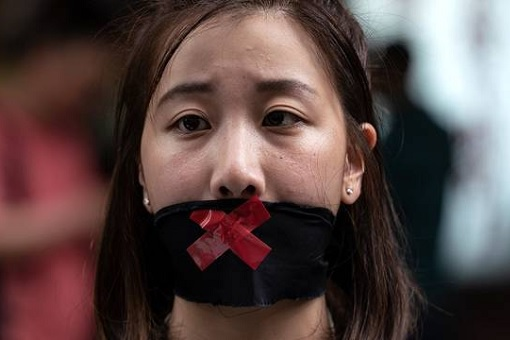Hong Kong National Party Banned - Freedom Of Speech - Mouth Sealed