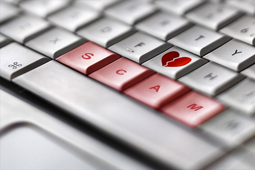 Internet Online Love Scam - Keyboard