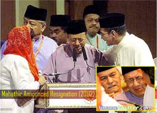 Mahathir Announced Resignation 2002 - Crying