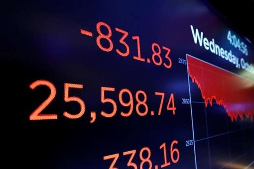 Dow Jones Crashes - Down 832 Points - October 2018