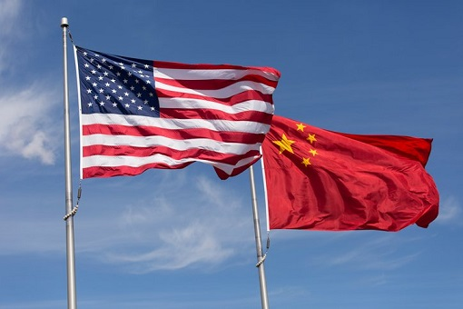 Geopolitical Recession - US Flag and China Flag
