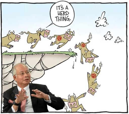 Herd Cow Mentality - Najib Razak - UMNO Delegates