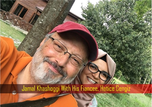 Jamal Khashoggi With His Fiancee - Hatice Cengiz