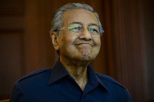 Mahathir Mohamad - Grinning