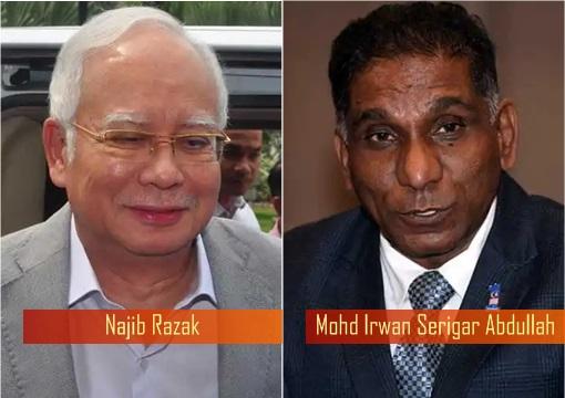 Najib Razak and Mohd Irwan Serigar Abdullah
