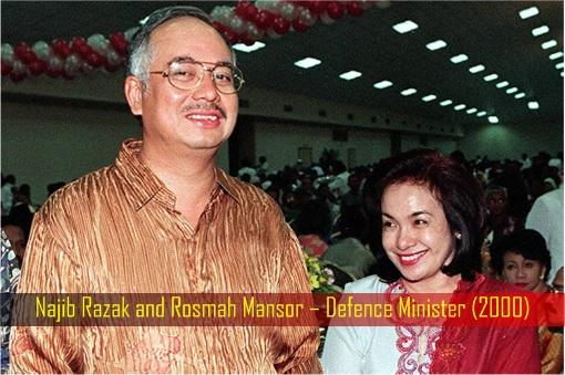 Najib Razak and Rosmah Mansor – Defence Minister - Year 2000