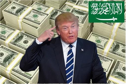 Saudi Paid USA 100 Million - Trump - Saudi Flag