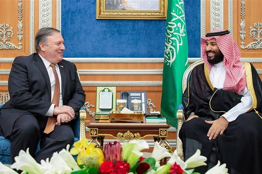 Secretary of State Mike Pompeo meeting with Saudi Crown Prince Mohammed bin Salman