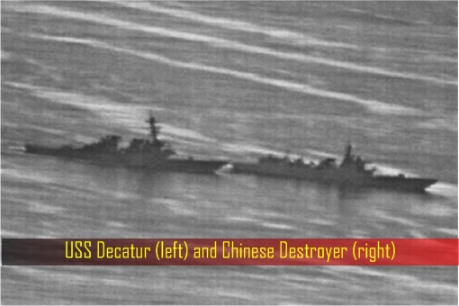 USS Decatur and Chinese Destroyer - Almost Collided