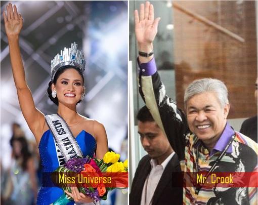 Wave Hand - Miss Universe vs Mr Crook Zahid Hamidi