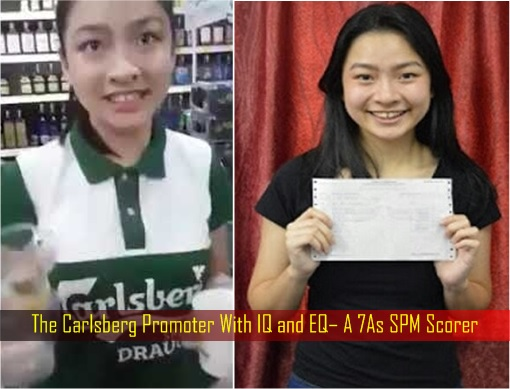Carlsberg Beer Fiasco - The Promoter Girl With IQ and EQ - 7As SPM Scorer